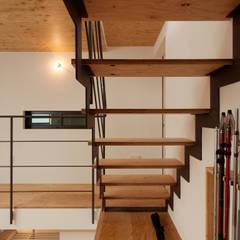 スチール階段: 一級建築士事務所 Coo Planningが手掛けた階段です。