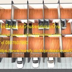 แปลนพื้นอาคารพาณิชย์ 5 คูหา:  บ้านสำหรับครอบครัว by รับเขียนแบบบ้าน&ออกแบบบ้าน