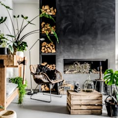 marrakech walls in de kleur slate grey woonkamer door pure original