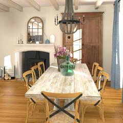 La salle à manger: Salle à manger de style de stile Rural par MJ Intérieurs