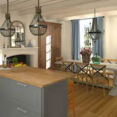 La cuisine salle à manger: Salle à manger de style de stile Rural par MJ Intérieurs