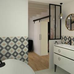 La salle de bains de la suite parentale: Salle de bains de style  par MJ Intérieurs