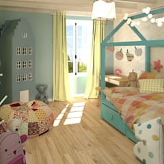Girls Bedroom by MJ Intérieurs