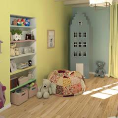 La chambre d'enfant: Chambre d'enfant de style de stile Rural par MJ Intérieurs