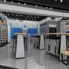 RETAIL: Centros Comerciales de estilo  por HZ ARQUITECTOS