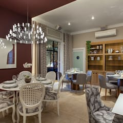 Restaurante Espaços gastronômicos ecléticos por Patricia Bonadia Arquitetura Interiores e Feng Shui Eclético