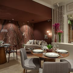 Restaurante Espaços gastronômicos ecléticos por Patricia Bonadia Arquitetura Interiores e Feng Shui Eclético Granito