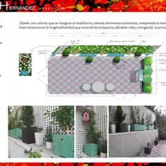 Jardines de piedra de estilo  por HZ ARQUITECTOS