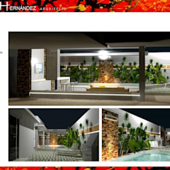 PAISAJISMO: Piscinas de jardín de estilo  por HZ ARQUITECTOS SANTIAGO DISEÑO COCINAS JARDINES PAISAJISMO REMODELACIONES OBRA