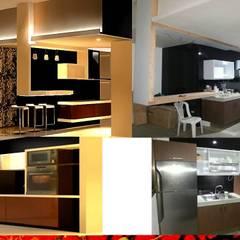 置入式廚房 by HZ ARQUITECTOS SANTIAGO DISEÑO COCINAS JARDINES PAISAJISMO REMODELACIONES OBRA