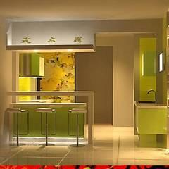 DISEÑO INTERIOR: Muebles de cocinas de estilo  por HZ ARQUITECTOS