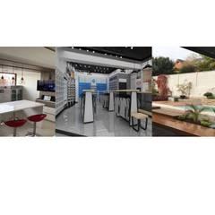 RESUMEN DISEÑO INTERIOR - RETAIL- PAISAJISMO: Cocinas equipadas de estilo  por HZ ARQUITECTOS