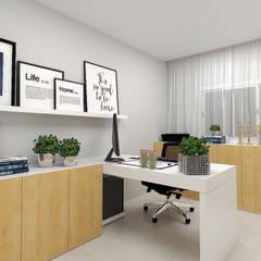 ห้องทำงาน/อ่านหนังสือ by Pocket Space Arquitetura