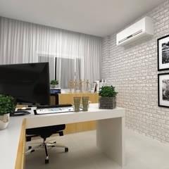 Oficinas de estilo  por Pocket Space Arquitetura