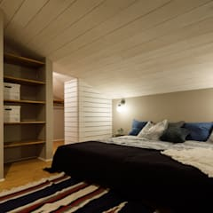 house-17: dwarfが手掛けた寝室です。,インダストリアル
