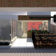 Forneria de pizza Espaços gastronômicos ecléticos por Arquiteca Projetos Eclético