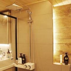강남구 청담동 펜트하우스 네추럴 인테리어: 그리다집의  화장실