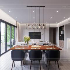 Thiết căn hộ Gateway Thảo Điền: Đẳng cấp của một căn hộ phong cách hiện đại :  Phòng ăn by ICON INTERIOR