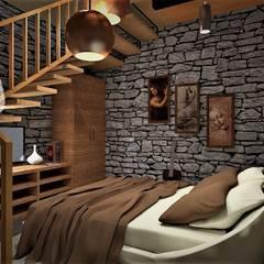 Projekty,  Dom rustykalny zaprojektowane przez ARGAL Arquitectura-Arte-Diseño