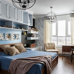 Chambre d'adolescent de style  par Дизайн элитного жилья | Студия Дизайн-Холл