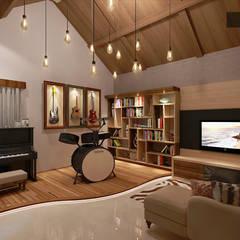 Music Room Design : Ruang Keluarga oleh Jade Interior Design,