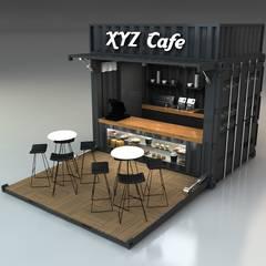 Next Container – Next Container - 10 F Cafe:  tarz Prefabrik ev