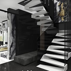 IN THE HEAT OF THE MOMENT | Wnętrza domu: styl , w kategorii Schody zaprojektowany przez ARTDESIGN architektura wnętrz