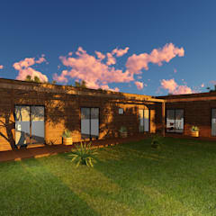 Modelo | T3 209m²: Casas de madeira  por Discovercasa | Casas de Madeira & Modulares