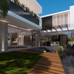 Casa Imozulu CDMX: Villas de estilo  por Besana Studio