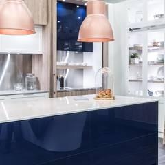 RAUVISIO brilliant - kolor Notte: styl , w kategorii Aneks kuchenny zaprojektowany przez REHAU Polska