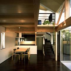 Projekty,  Jadalnia zaprojektowane przez 西島正樹/プライム一級建築士事務所