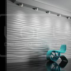 Dekorative 3D Wandpaneele Modell Nr. 28 RIPPLES:  Wohnzimmer von Loft Design System Deutschland
