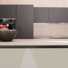RAUVSIO brilliant mat - kolor Marrone: styl , w kategorii Aneks kuchenny zaprojektowany przez REHAU Polska