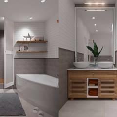 Baños de estilo  por Design Service, Escandinavo