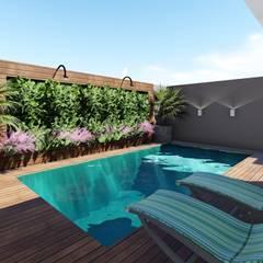 Jardines zen de estilo  por Tauana Rodrigues - Arquitetura e Interiores