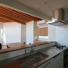 Cocinas equipadas de estilo  por 西島正樹/プライム一級建築士事務所 , Asiático Aluminio/Cinc
