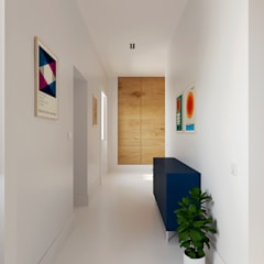 Casa XXS: Corredores e halls de entrada  por Makers Embassy