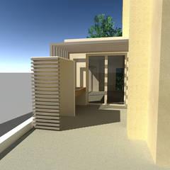 RENDER : Villa a schiera in stile  di studio arch sara baggio