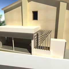 RENDER: Villa a schiera in stile  di studio arch sara baggio