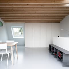 Interieur dakuitbouw: moderne Studeerkamer/kantoor door Unknown Architects