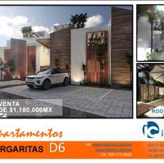 DEPARTAMENTOS D6: Villas de estilo  por TALLER819 A & C
