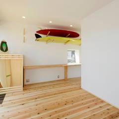 skat: ポーラスターデザイン一級建築士事務所が手掛けた寝室です。