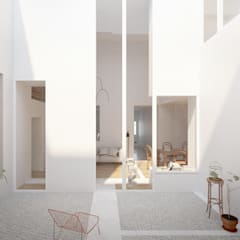 Casa das Muralhas: Terraços  por Corpo Atelier