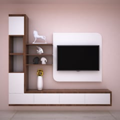 Entertainment Unit:  Living room by Vinra Interiors,Modern Plywood