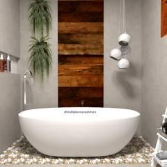 Projeto Stavanger - Projeto em Andamento: Banheiros  por Multiplanos Arquitetura,Moderno Madeira Efeito de madeira
