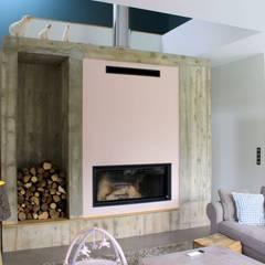 Maison L02: Salon de style de style Minimaliste par 3B Architecture