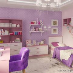 3-х комн. квартира 109м2 в г.Ромны: Спальни для девочек в . Автор – Abryutin Project