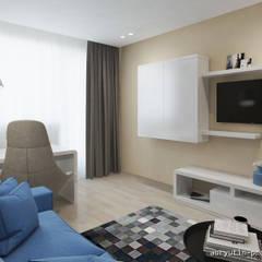 3-х комн. квартира 80м2 в г. Москва: Рабочие кабинеты в . Автор – Abryutin Project