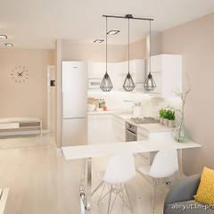 2-х комн. квартира 40м2 в г. Москва: Кухонные блоки в . Автор – Abryutin Project