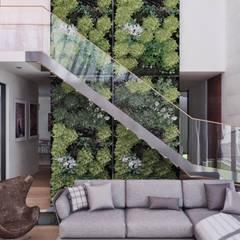 CASA ILO 2018: Salas / recibidores de estilo  por TECTONICA STUDIO SAC,